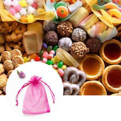 50/100pcs Luxury Organza Wedding Favour Gift Jewelry Bags Candy Pouch 4 Colours