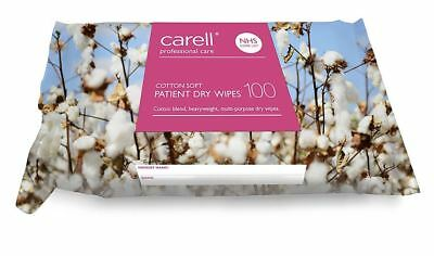 Carell Cotton Soft Patient Dry Wipes, Pack of 100