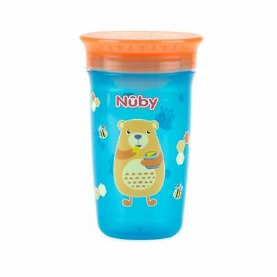 Nuby Active Sipeez 360 Degree Maxi Cup in Blue with bees and bear 6m+