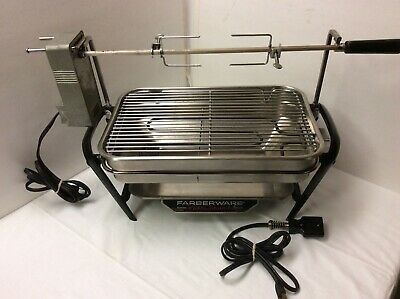 Vintage Farberware 450 Open Hearth Rotisserie Electric Broiler Grill Countertop