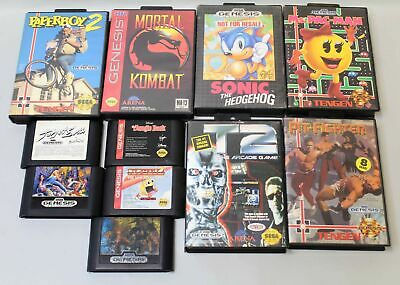 Lot of 11 Sega Genesis Games Streets of Rage Sonic Altered Beast Target Earth