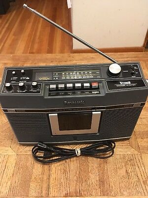 Vintage Panasonic RS-460S AM/FM Stereo Cassette Recorder Tested Built In Mic