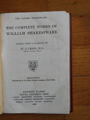 Complete Works of William Shakespeare-1923-Oxford University Press-1300+ Pages