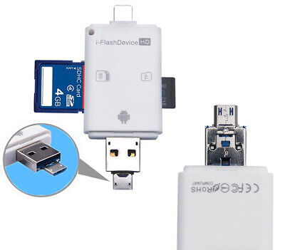 3 in 1 OTG Micro USB SD/TF Card Reader for Apple iphone X XS XR Android phone
