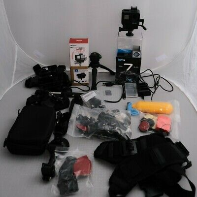 GoPro HERO7 Black Action Camera with GoPro microphone adaptor and accesories