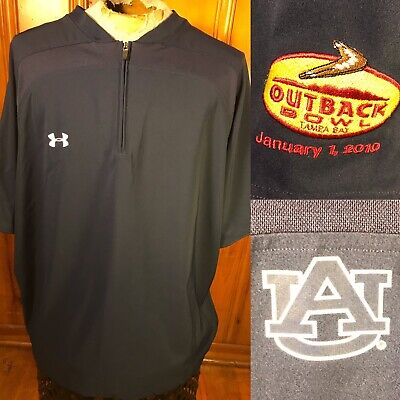 Auburn Tigers Under Armour Football Pullover 1/4 Zip Outback Bowl Size Men's 2XL