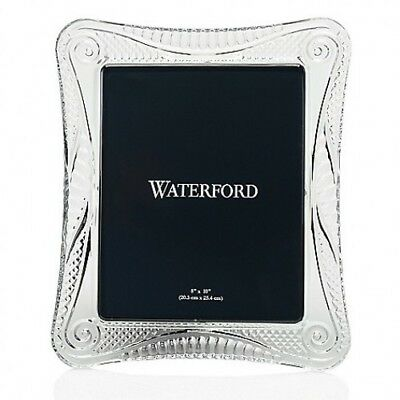 "Waterford Crystal Seahorse 8"" x 10"" Wedge Cut Picture Frame New In Box #40030286"