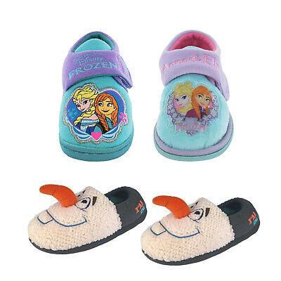 Disney Girl's Boy's Frozen Olaf Elsa Anna Bootie Slipper - Sizes Infant 4-12