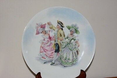 Antique 18Th Century Hand Painted French Porcelain Cabinet Plate