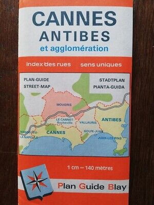Neuf ! plan Blay CANNES ANTIBES + AGGLOMERATION MOUGINS MANDELIEU LE CANNET