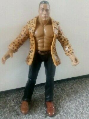 WWE WWF jakks Mattel Retro the rock wrestling figure Dwayne johnson