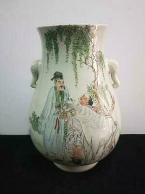 Chinese Artist Collection Of Pastel Figures Double Ears Old Porcelain Chinaware