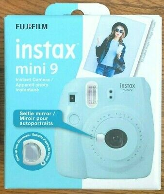 FUJIFILM Instax Mini 9 Ice Blue Instant Film Camera New