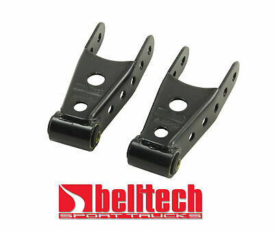 "Belltech 2019 Chevy Silverado & GMC Sierra 1500 2WD 4WD 2"" Rear Drop Shackles"