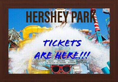 Hershey park tickets. Free shipping!!!