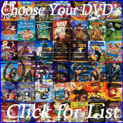 Disney DVD Lot: Snow White Cinderella Beauty & Beast  Lion King Toy Story & MORE