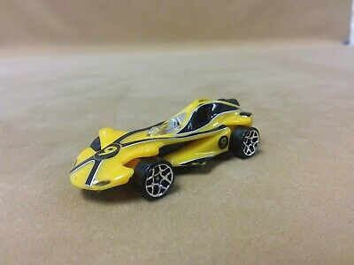 2008 Hot Wheels Diecast Speed Racer Movie Racer X Race Car Yellow 1:64 Scale