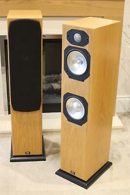 MONITOR AUDIO SILVER S6 SPEAKERS in Light Oak Fully Working Great Sound