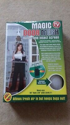 "Magic door mesh hands free insect screen magnetic fastening size 83"" x 39"""