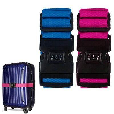 1 Pc Combination Lock Luggage Strap Packing Belt Suitcase Baggage Backpack Bag