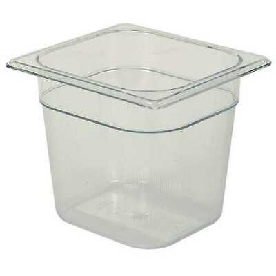 RUBBERMAID FG106P00CLR Sixth Size Food Pan,Cold