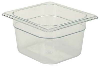 RUBBERMAID FG105P00CLR Sixth Size Food Pan,Cold