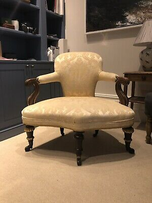 Regency Style Antique Corner Upholstered Armchair