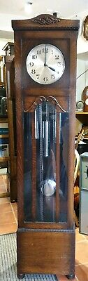 Art Deco Wooden 8 day Westminster Chiming Grandfather Clock, Delivery Arranged