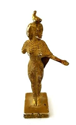 RARE Egyptian Antique Statue of Goddess Hathor Figurine Isis copper Pharaoh art