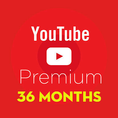 YouTube Premium Red ( 36 MONTHS ACCESS ) w/ FREE YouTube Music |Your Own Account