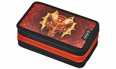 herlitz 50008551 Triple-Decker-Etui, 31 Teile, Buntstifte he(Dragon)