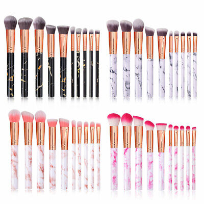 Professional Makeup Brush Set 10x Cosmetic Make Up  Brushes Marble Texture