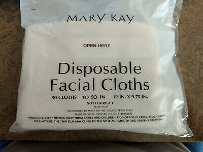 Mary Kay Disposable Facial Cloths 30 in pack NEW FREE SHIPPING