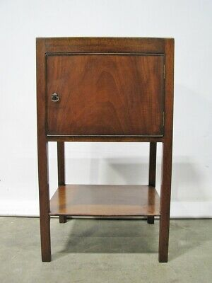 Beautiful Mahogany Georgian Single-Door Stand; English Made Antique Reproduction