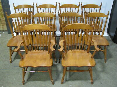 "Immaculate Set of 10 Tell City ""Cattail"" Andover Chairs; Models 8034 & 8035"