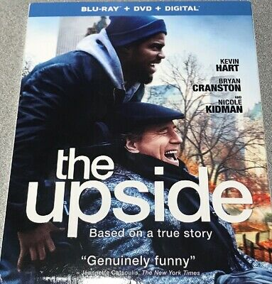 THE UPSIDE Brand New!!! (2019, Blu-ray +DVD +DIGITAL + SLIPCOVER) KEVIN HART!!!