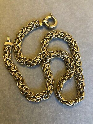 VINTAGE 9CT 9K Solid Gold Chain Necklace w/ Safety Chains