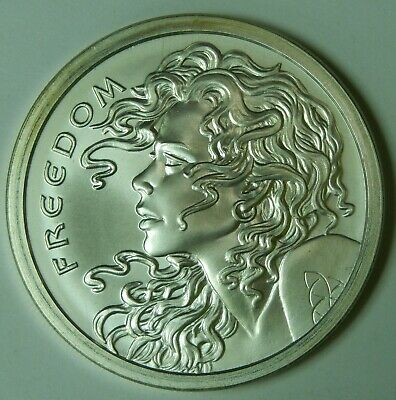 2015 Freedom Girl 2 Ounces Silver BU 2oz .999 Silver Shield Celtic Design Coin 2