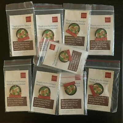 LOT OF 9 - Limited Edition 2011 Wells Fargo Rose Parade Pin - NEW! FREE SHIP!