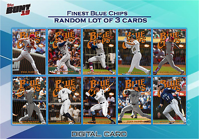 2019 FINEST BLUE CHIPS RANDOM LOT OF 3 CARDS LE 250 Topps Bunt Digital Card