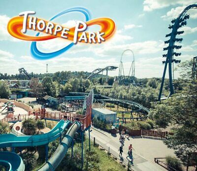 THORPE PARK TICKET(S) Valid  Thursday 25th July - 25.07.2019 - RECEIVE SAME DAY
