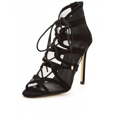 Saffron Mesh Lace Up Strappy Heel Sandal Women by Very,UK-7,RRP£250