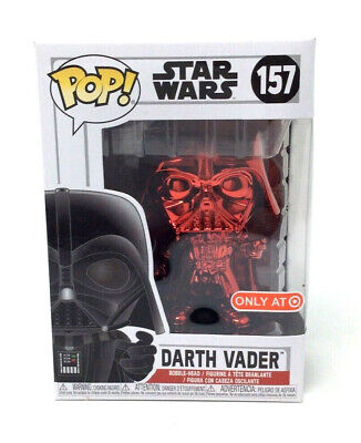 Funko POP! DARTH VADER RED CHROME #157 STAR WARS TARGET EXCLUSIVE NEW