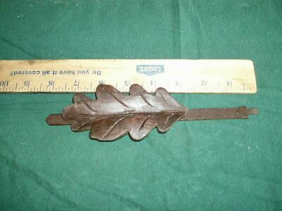Vintage Cuckoo Clock Pendulum Oak Leaf German Black Forest