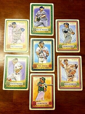 2019 Topps Gypsy Queen 7-card Tarot Lot with Acuna Jr, Aaron Judge and Arenado