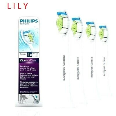 4 Pack Philips Sonicare Diamond Clean HX6064 Genuine Heads Retail Packaging