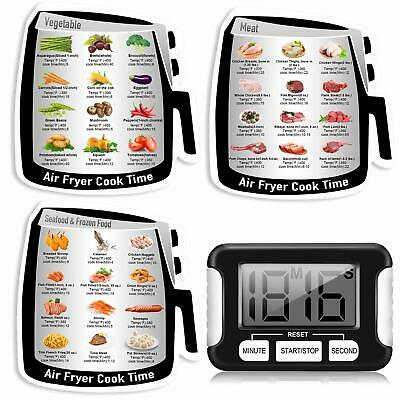 Air Frying Cook Time Chart Guide Recipes,Air Fryer Magnetic Cheat Sheet Cookbook