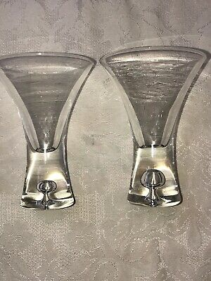 Crystal  Shot Glasses Cordial Liqueur With Bubble Stem  4 1/8 inch  - Set of 2