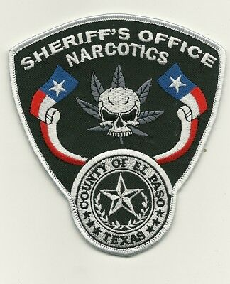 Naecotics Unit El Paso County Sheriff State TEXAS TX Shoulder Patch