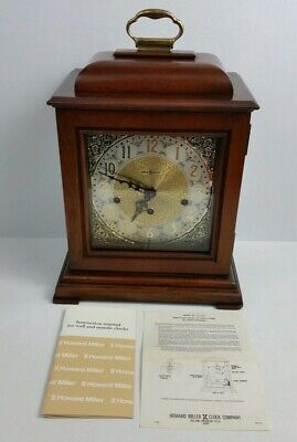 Vtg Howard Miller 612-429 Triple Chime Cherry Mantel Carriage Grandfather Clock